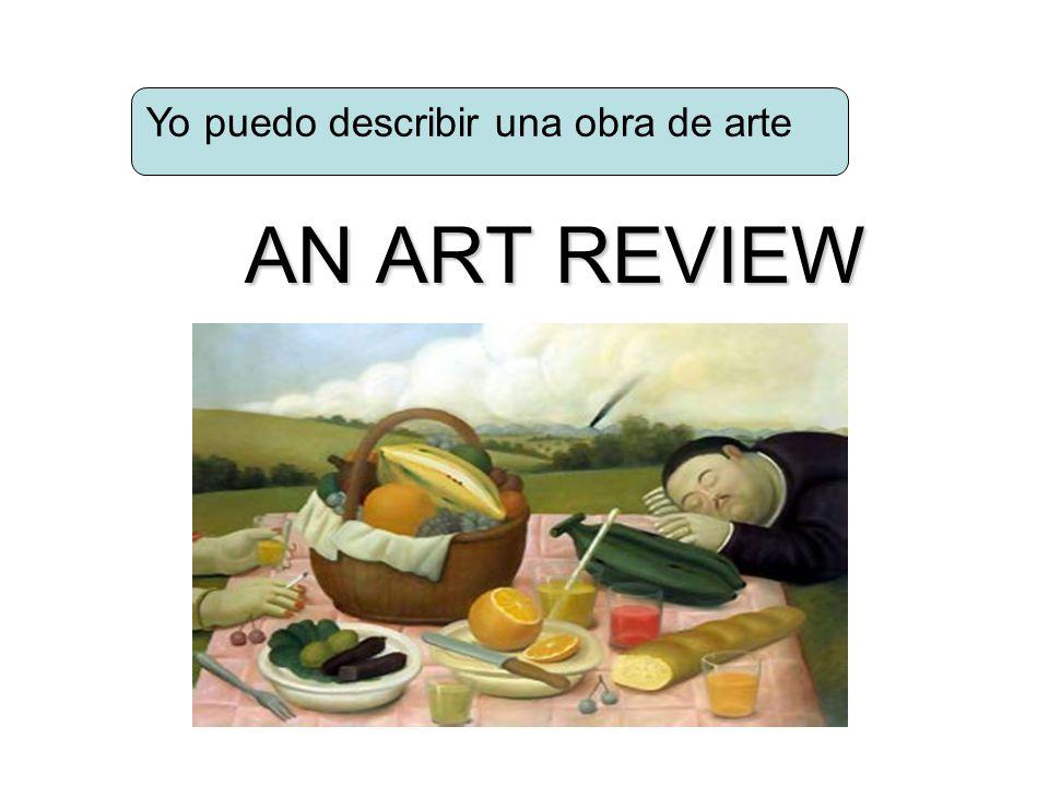 Yo puedo describir una obra de arte