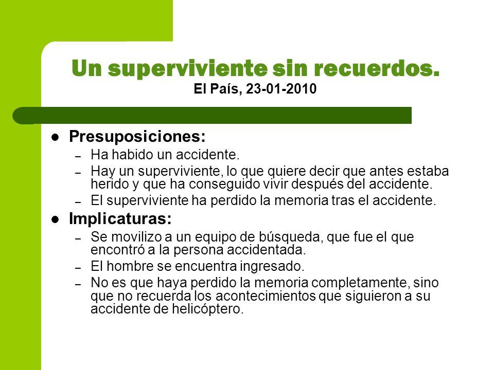 Un superviviente sin recuerdos. El País, 23-01-2010