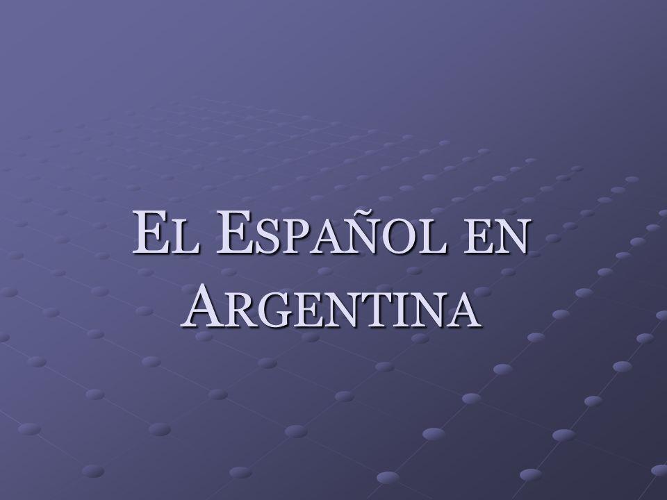 El Español en Argentina