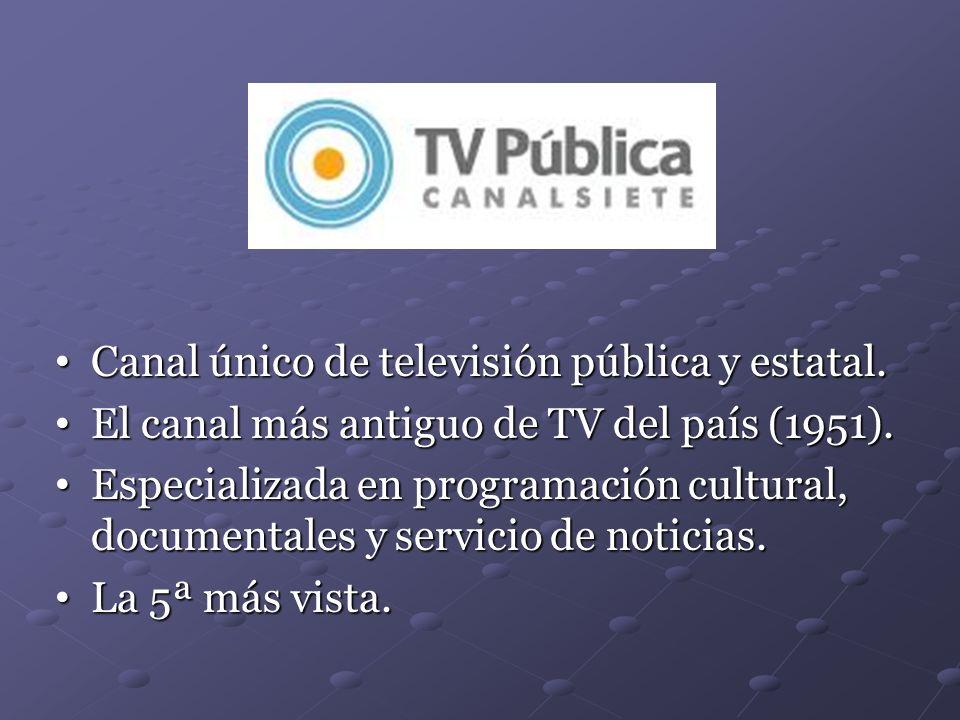 Canal único de televisión pública y estatal.