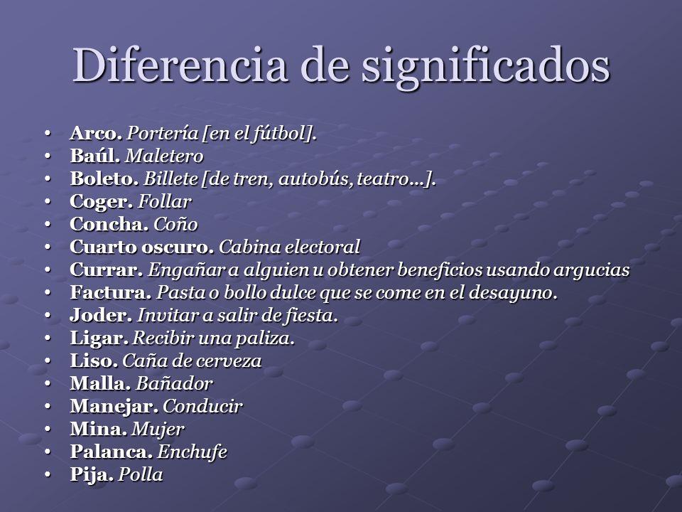 Diferencia de significados