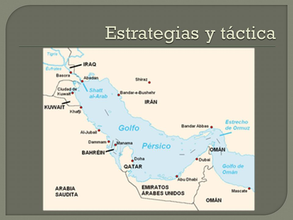 Estrategias y táctica