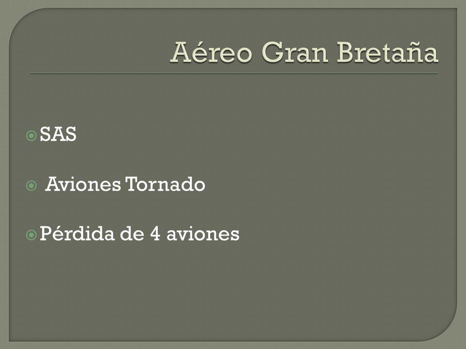 Aéreo Gran Bretaña SAS Aviones Tornado Pérdida de 4 aviones
