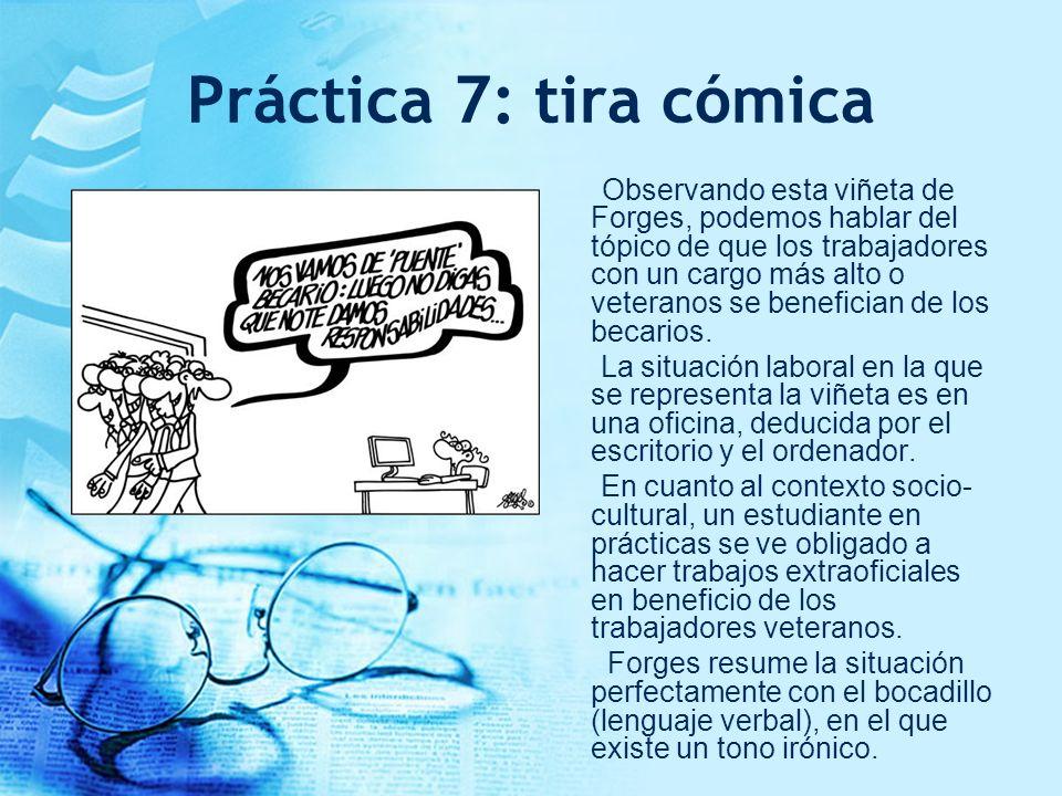 Práctica 7: tira cómica