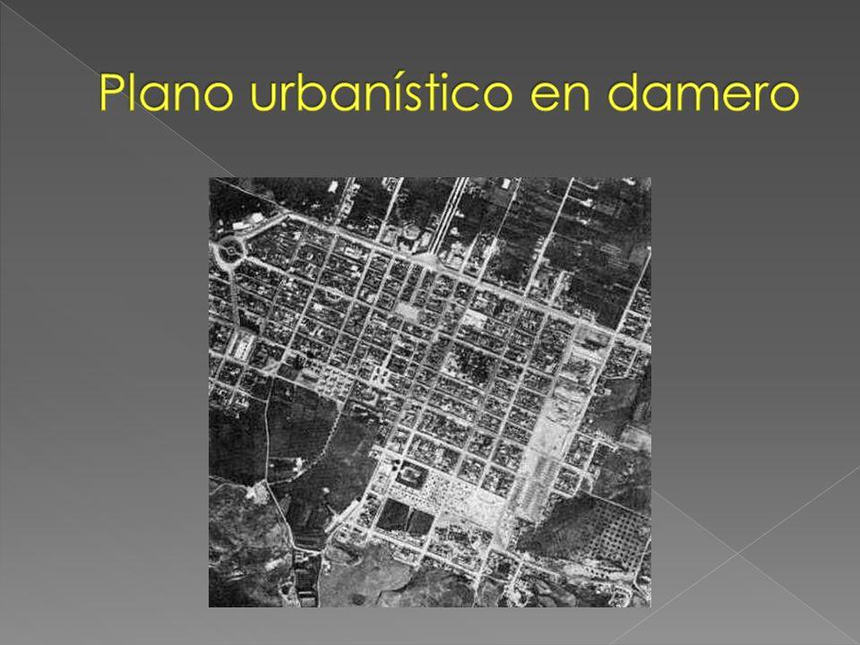 Plano urbanístico en damero