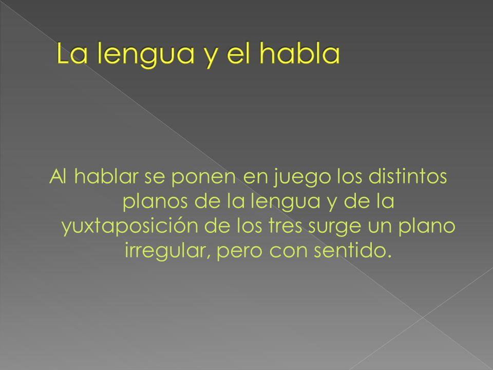 La lengua y el habla