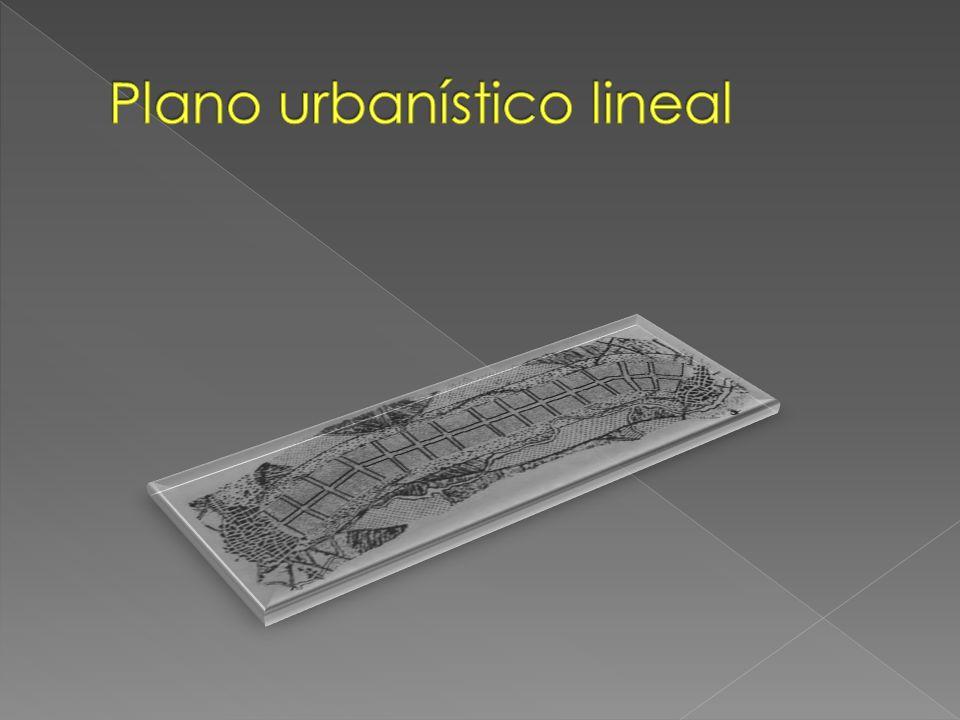 Plano urbanístico lineal