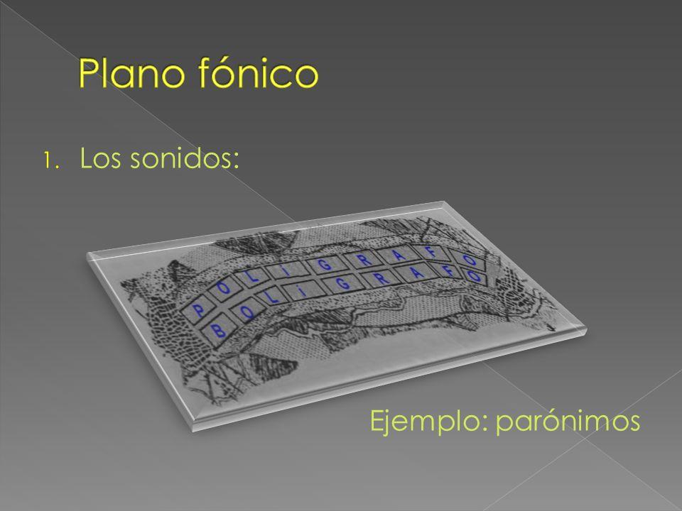 Plano fónico Los sonidos: Ejemplo: parónimos