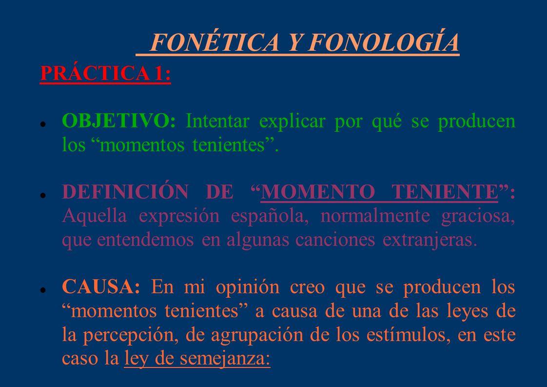 FONÉTICA Y FONOLOGÍA PRÁCTICA 1: