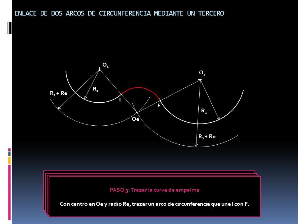 ENLACE DE DOS ARCOS DE CIRCUNFERENCIA MEDIANTE UN TERCERO