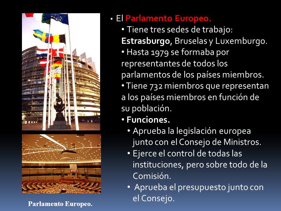 Tiene tres sedes de trabajo: Estrasburgo, Bruselas y Luxemburgo.