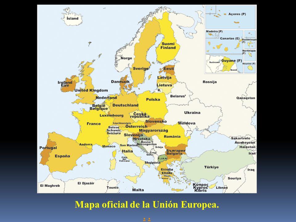 Mapa oficial de la Unión Europea.