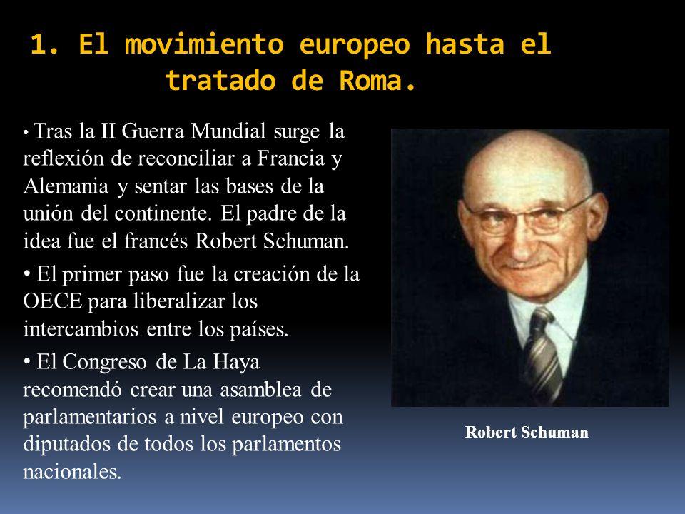 1. El movimiento europeo hasta el tratado de Roma.