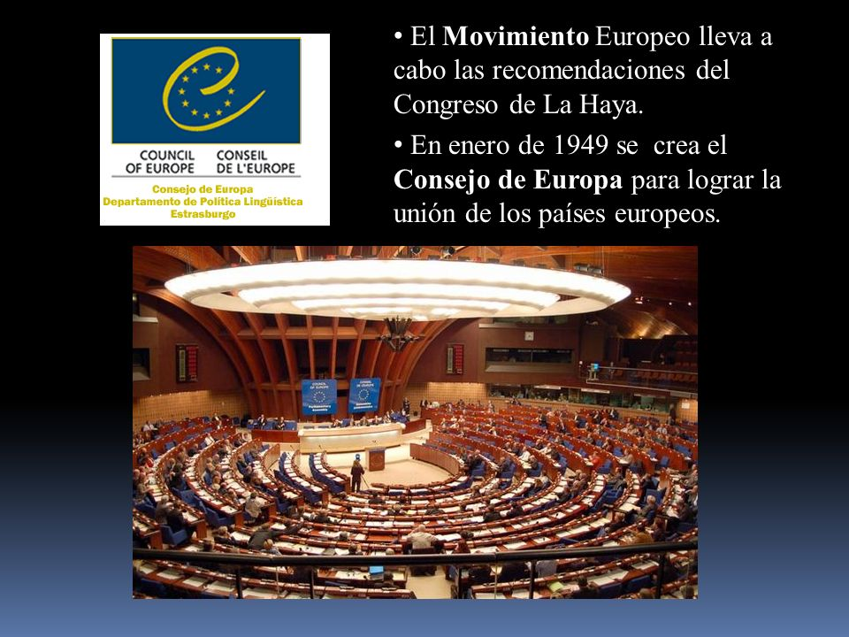 El Movimiento Europeo lleva a cabo las recomendaciones del Congreso de La Haya.
