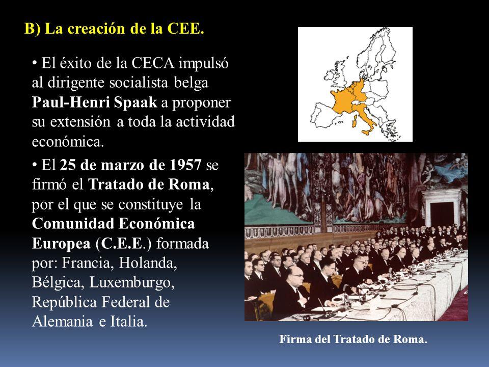 Firma del Tratado de Roma.