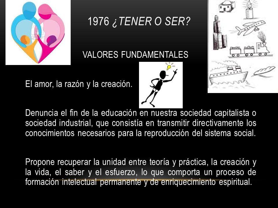 1976 ¿Tener o ser