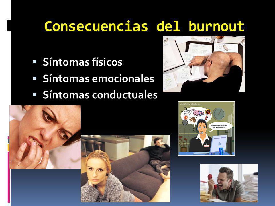Consecuencias del burnout