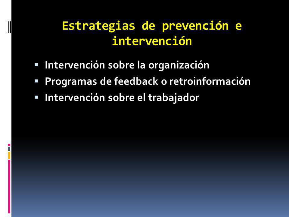 Estrategias de prevención e intervención