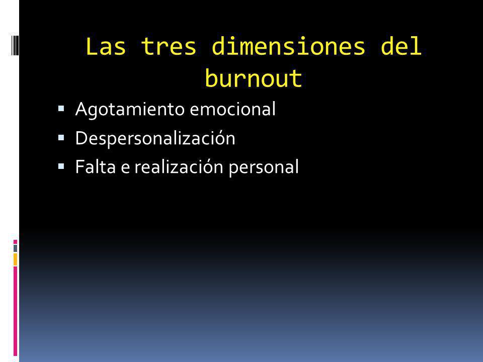 Las tres dimensiones del burnout