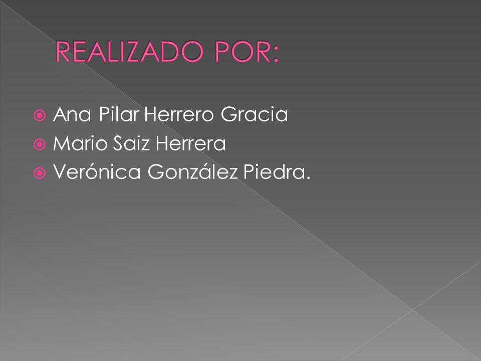 REALIZADO POR: Ana Pilar Herrero Gracia Mario Saiz Herrera