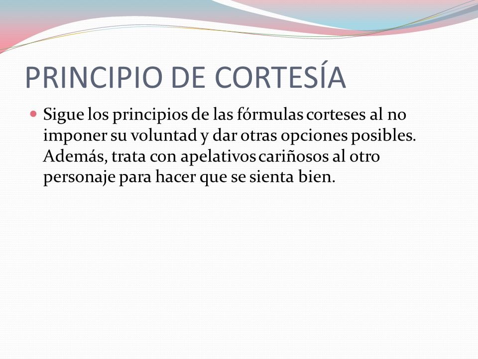 PRINCIPIO DE CORTESÍA