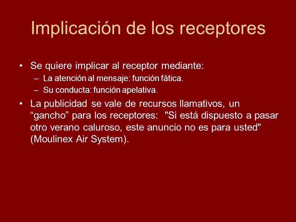 Implicación de los receptores