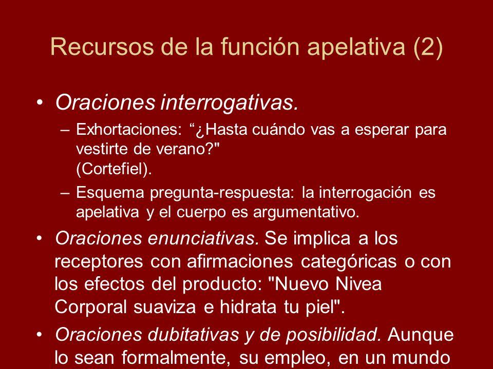 Recursos de la función apelativa (2)
