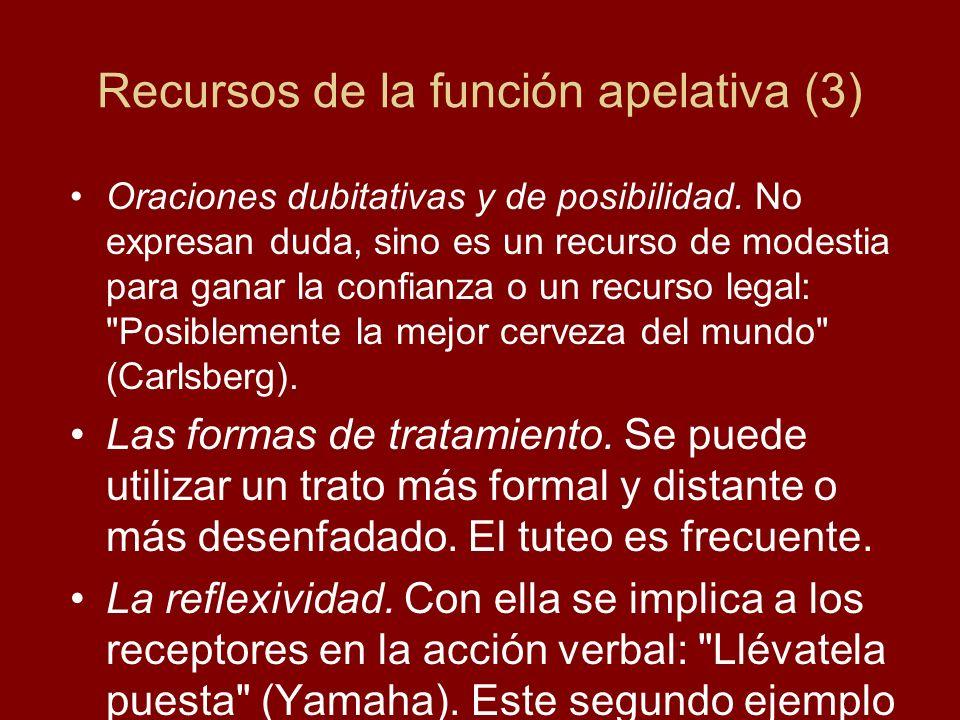 Recursos de la función apelativa (3)