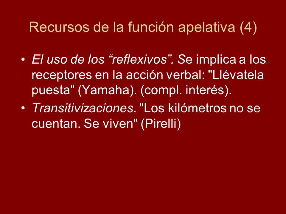 Recursos de la función apelativa (4)