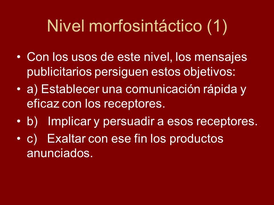 Nivel morfosintáctico (1)