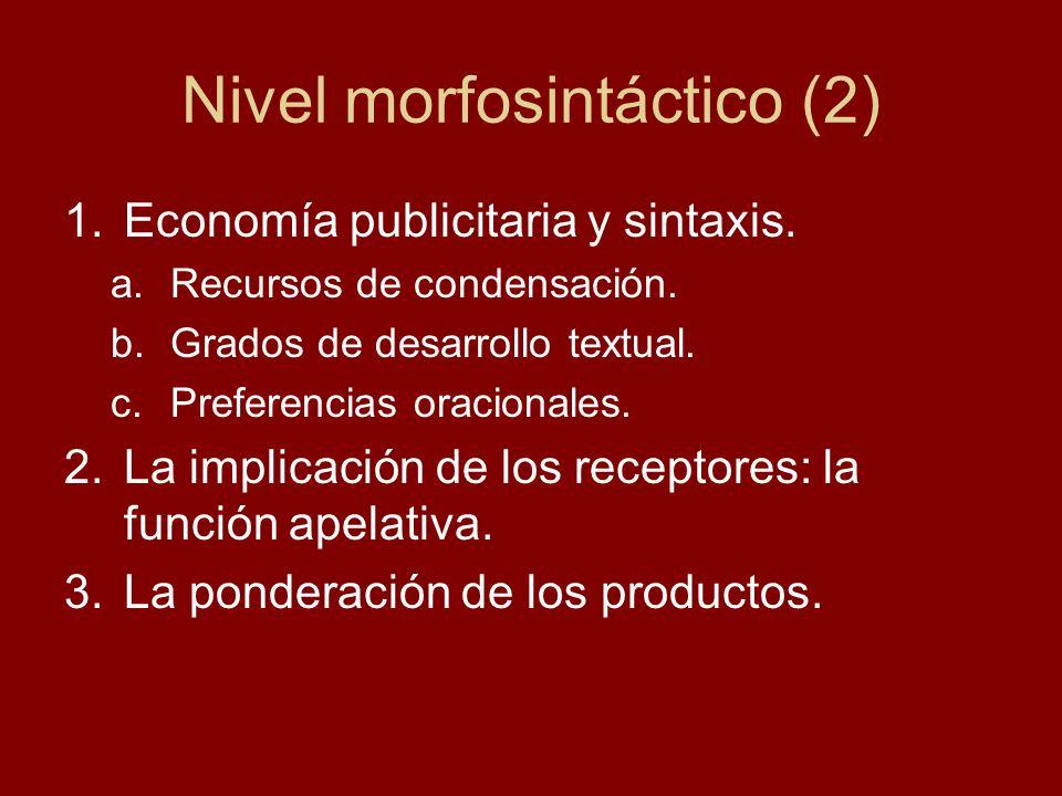 Nivel morfosintáctico (2)