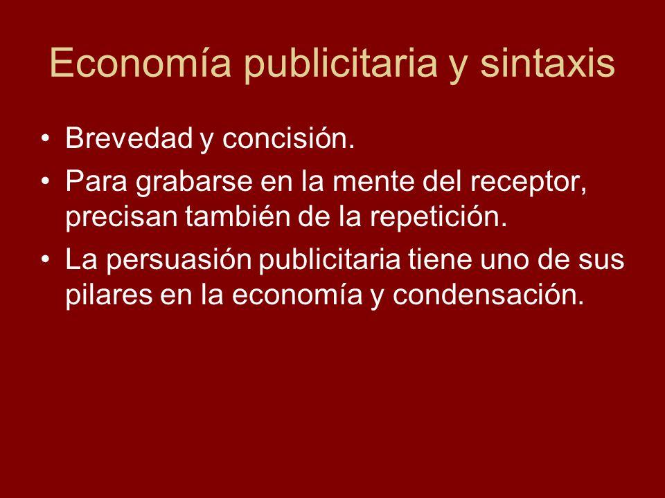 Economía publicitaria y sintaxis