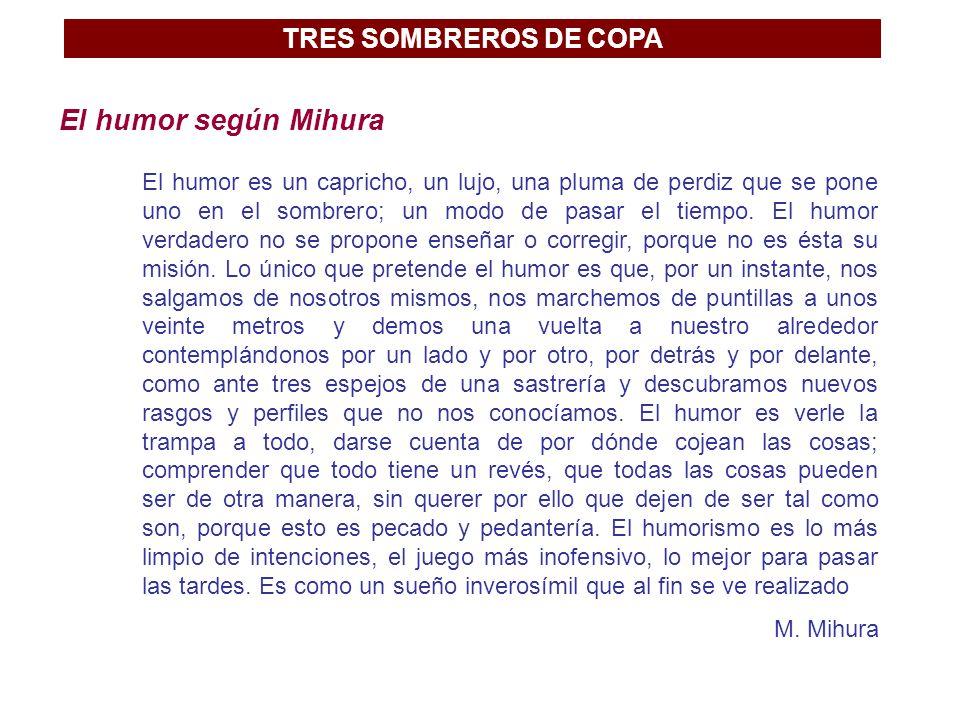 El humor según Mihura TRES SOMBREROS DE COPA