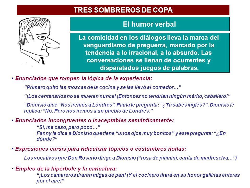 TRES SOMBREROS DE COPA El humor verbal