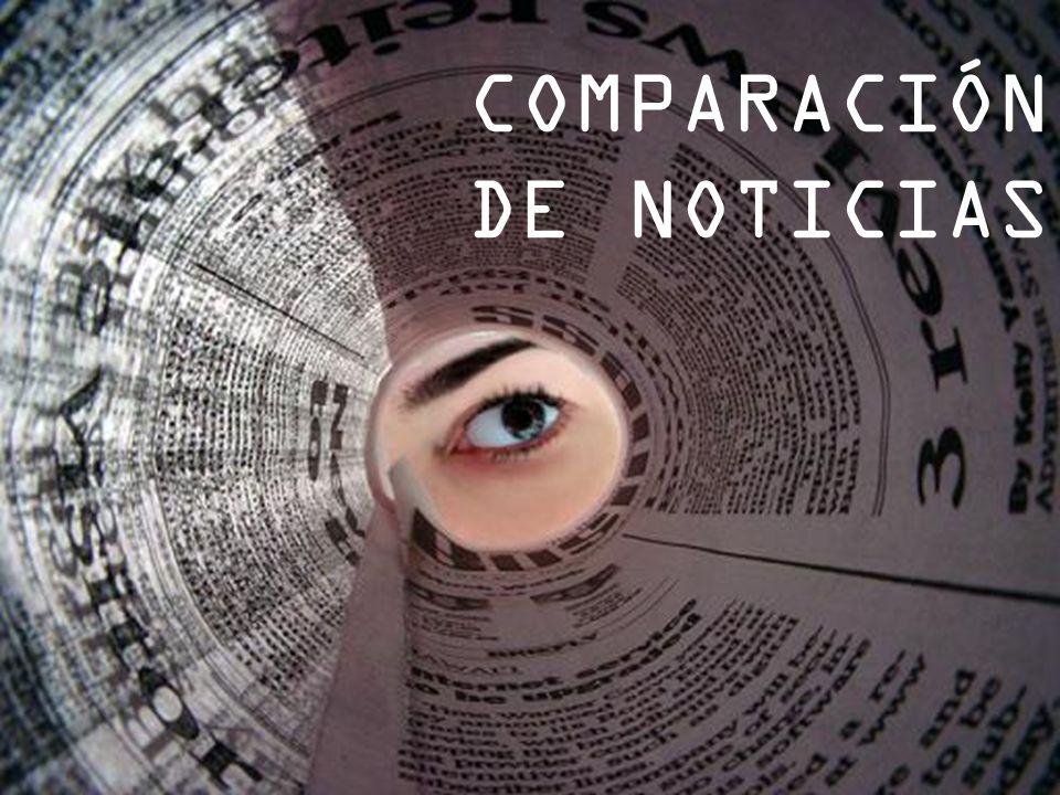 COMPARACIÓN DE NOTICIAS