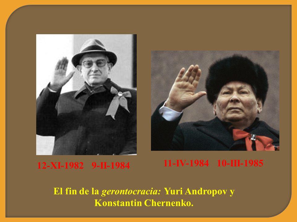 El fin de la gerontocracia: Yuri Andropov y Konstantin Chernenko.