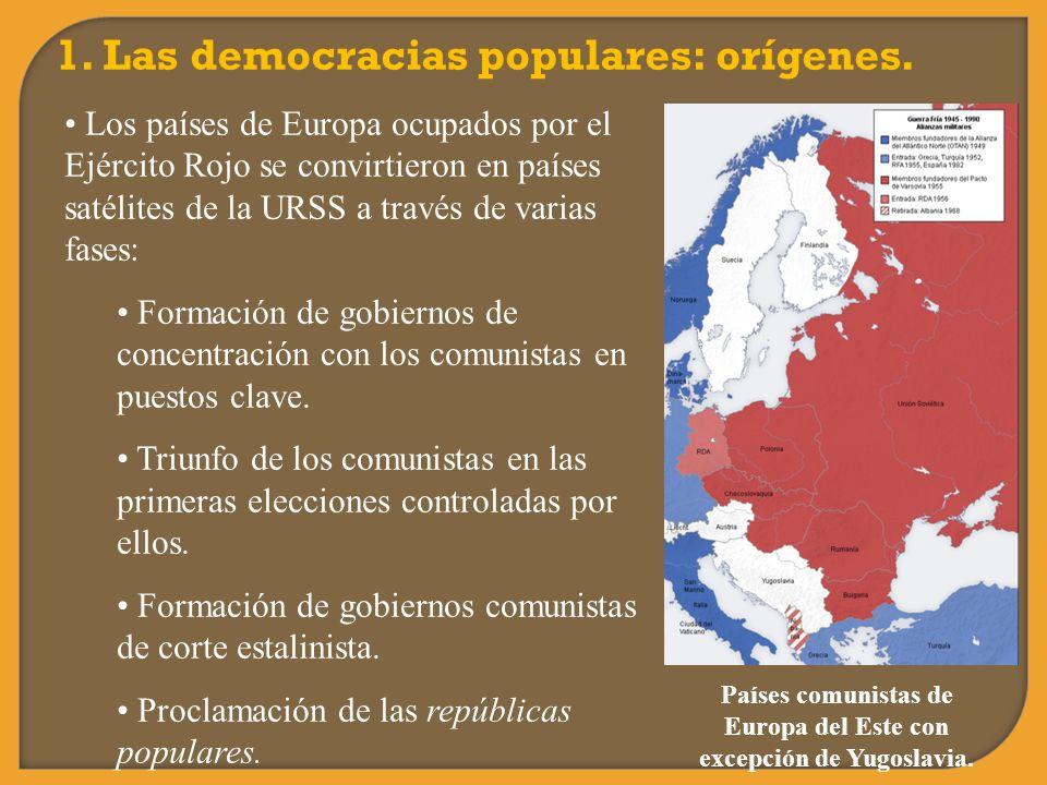Países comunistas de Europa del Este con excepción de Yugoslavia.