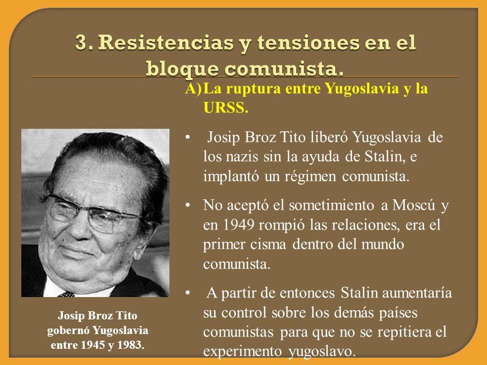 3. Resistencias y tensiones en el bloque comunista.