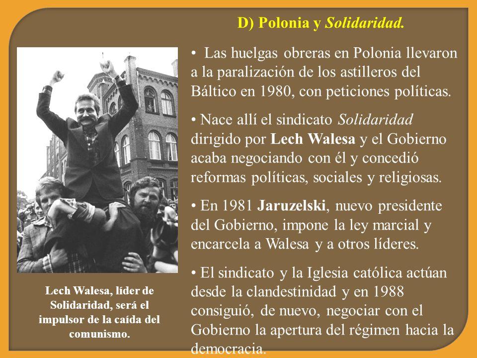 D) Polonia y Solidaridad.
