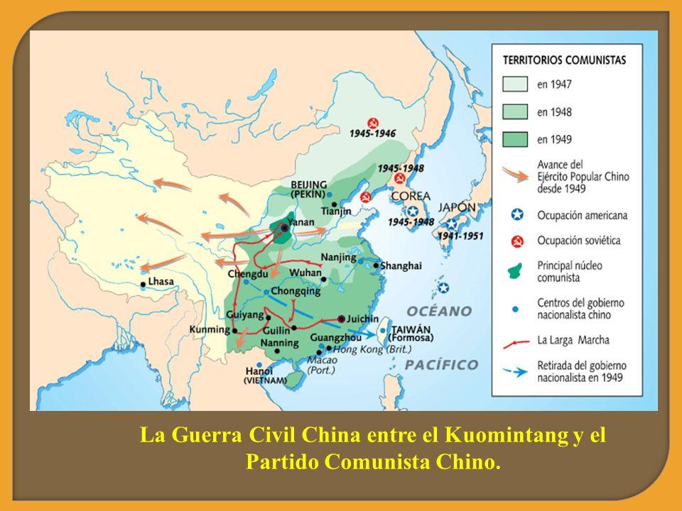 La Guerra Civil China entre el Kuomintang y el Partido Comunista Chino.