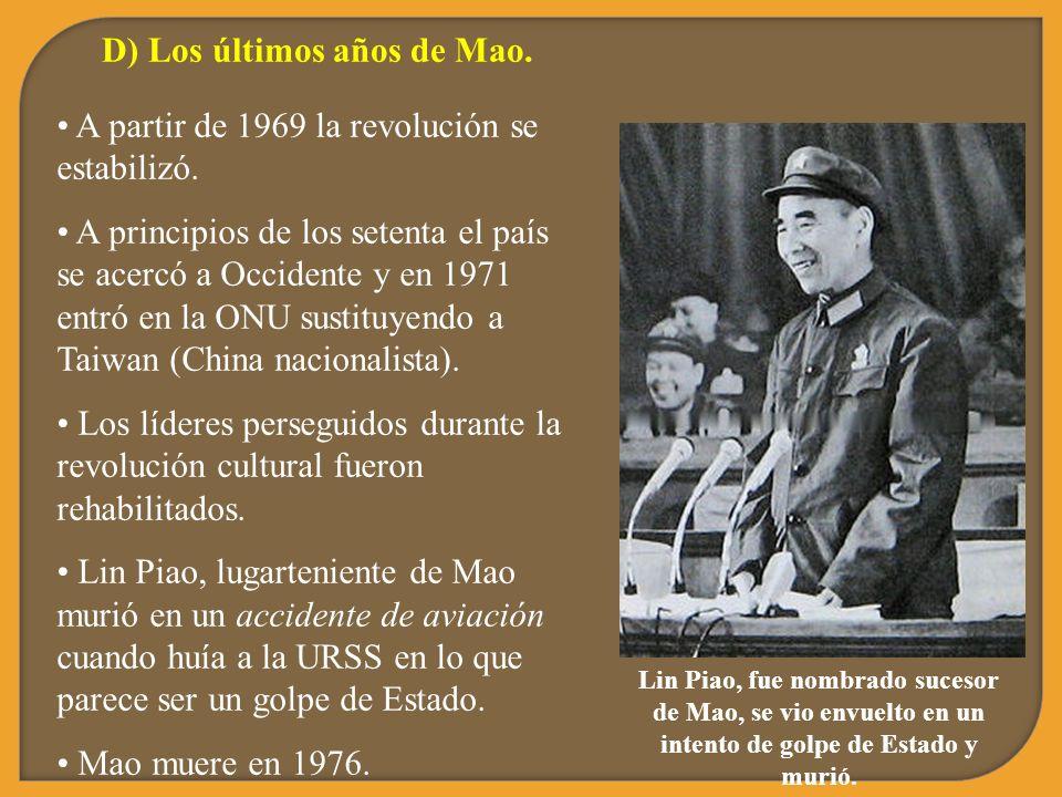 D) Los últimos años de Mao.