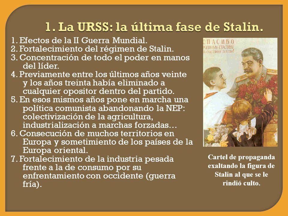 1. La URSS: la última fase de Stalin.