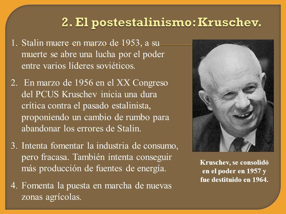 2. El postestalinismo: Kruschev.