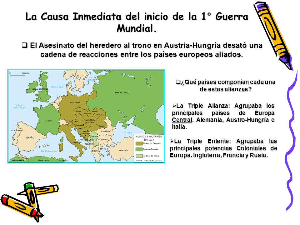 La Causa Inmediata del inicio de la 1° Guerra Mundial.