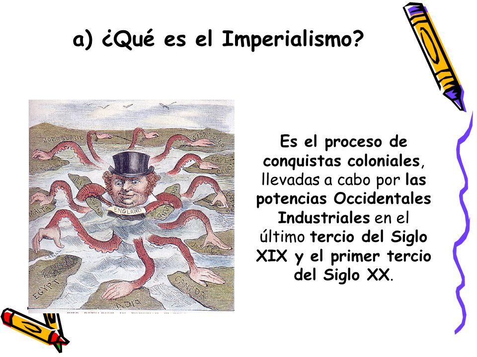 a) ¿Qué es el Imperialismo