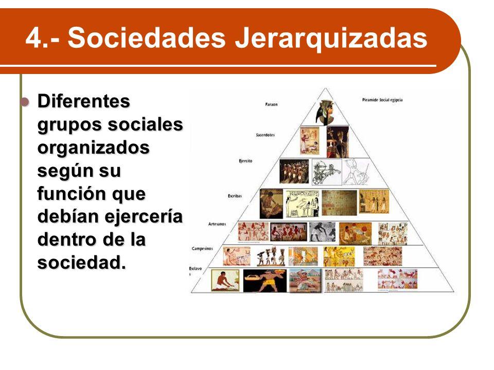 4.- Sociedades Jerarquizadas