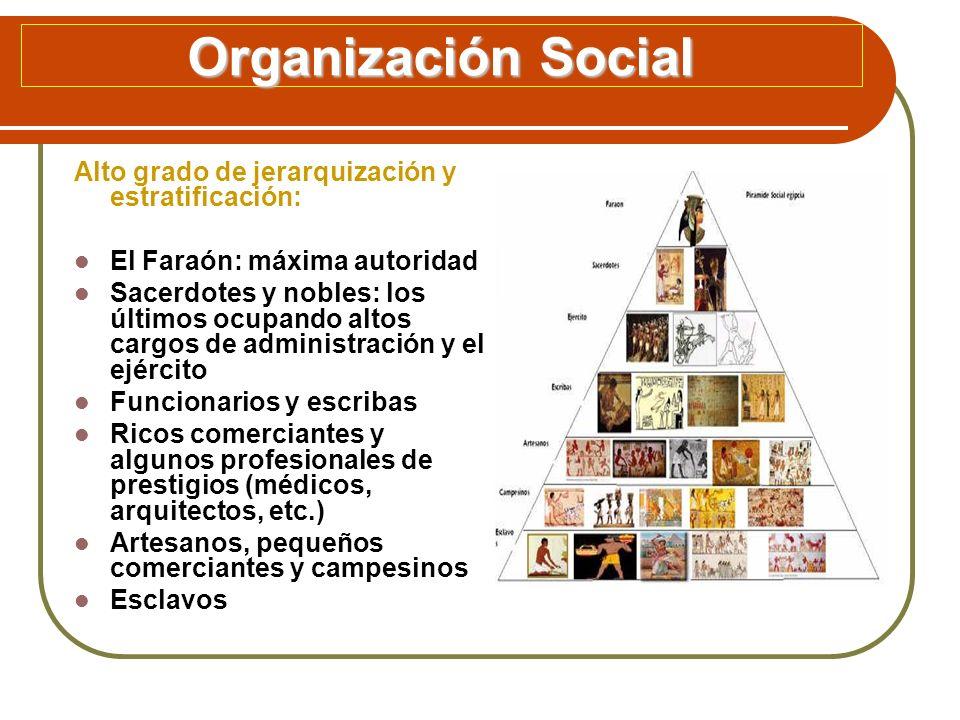 Organización Social Alto grado de jerarquización y estratificación: