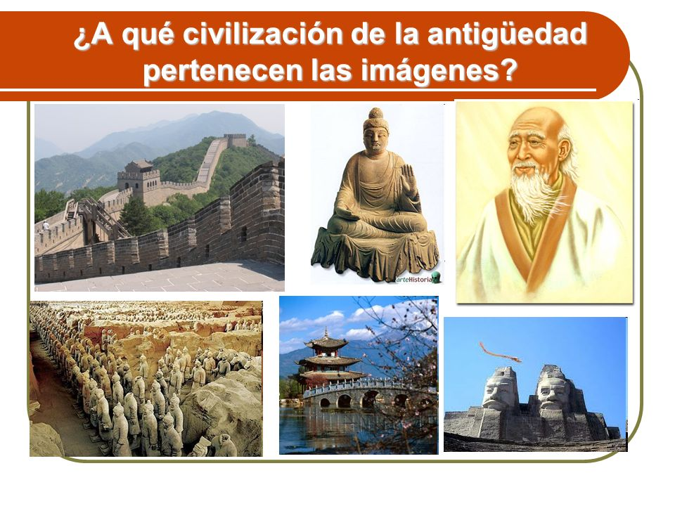 ¿A qué civilización de la antigüedad pertenecen las imágenes