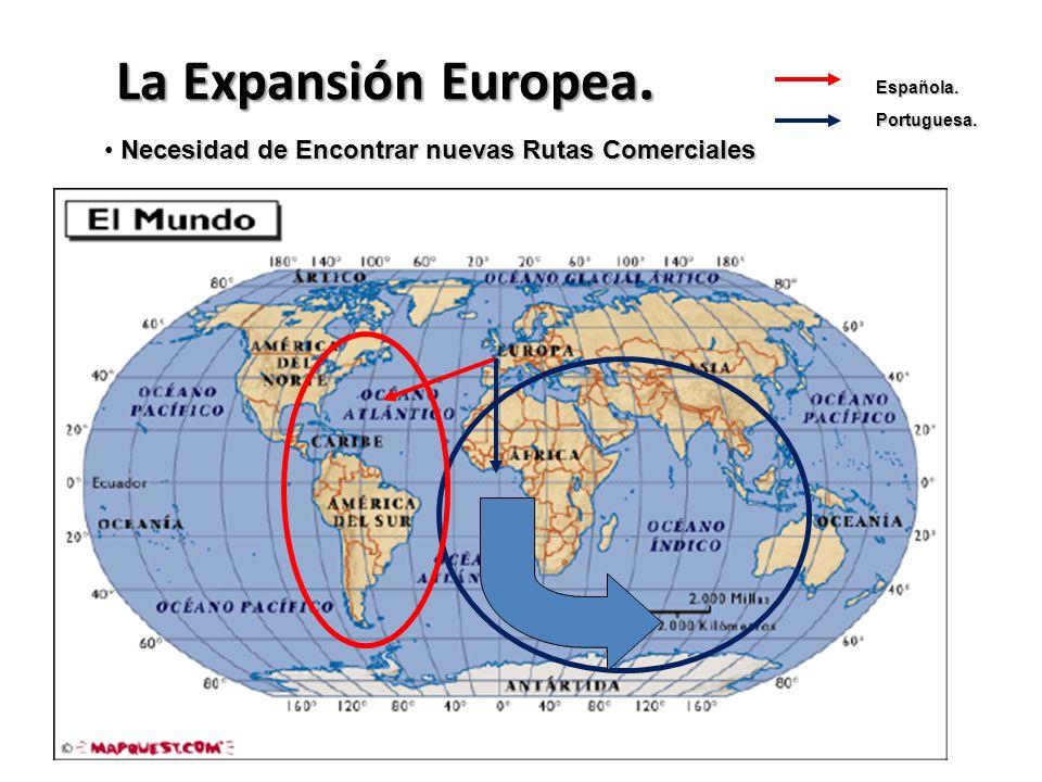 La Expansión Europea. Necesidad de Encontrar nuevas Rutas Comerciales