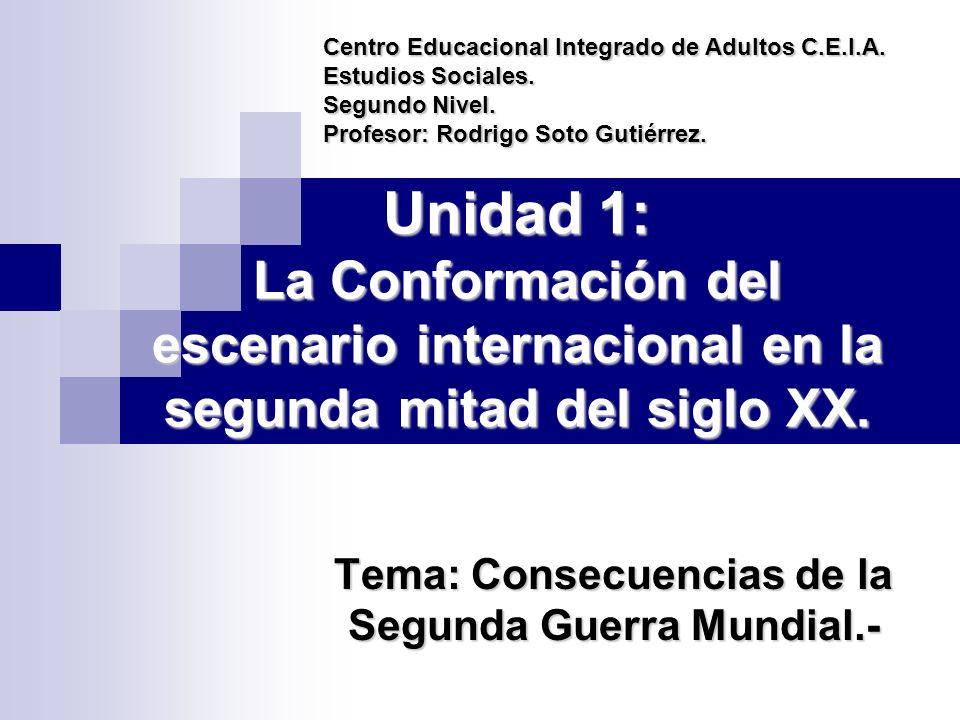 Tema: Consecuencias de la Segunda Guerra Mundial.-